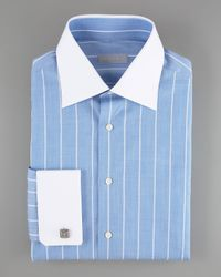 Stefano Ricci | Striped Dress Shirt, Light Blue for Men | Lyst