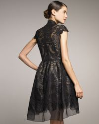 Stella McCartney - Black Lace Full-skirt Dress - Lyst