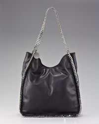 Stella McCartney | Black Norma Chain-trim Tote | Lyst
