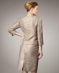 Tahari | Metallic Ruffle-front Jacquard Suit | Lyst