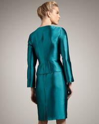 Tahari - Blue Seamed Wool-silk Suit - Lyst