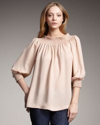 Theory - Pink Off-the-shoulder Top - Lyst