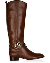 Tory Burch | Brown Aaden Leather Boots | Lyst