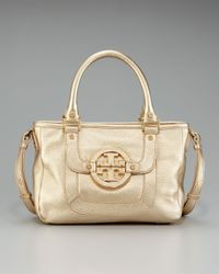 Tory Burch | Metallic Amanda Hobo | Lyst