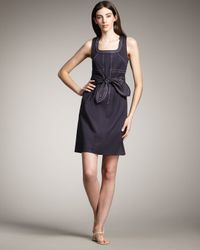 Tory Burch | Blue Leena Twill Suiting Dress | Lyst