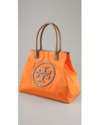 Tory Burch - Orange Logo Nylon Tote - Lyst