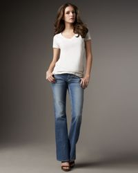 True Religion | Blue Audrey Slim Boyfriend Womens Jean | Lyst