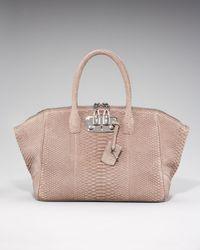 VBH | Pink Brera Sueded Python Handbag | Lyst