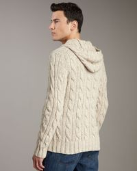 Vince - Natural Cable-knit Toggle Cardigan for Men - Lyst