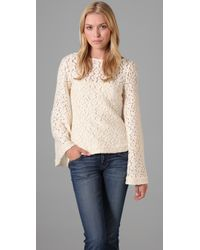 Elizabeth and James - White Delphine Lace Top - Lyst