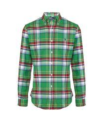 Polo Ralph Lauren | Green Oxford Shirt for Men | Lyst