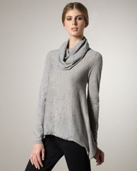 Alice + Olivia | Gray Cowl-neck Sweater | Lyst