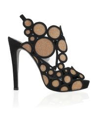 Pierre Hardy | Black Crystalembellished Suede Sandals | Lyst