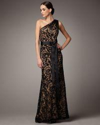 Tadashi Shoji | Black One-shoulder Lace Gown | Lyst