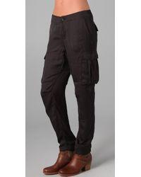 Rag & Bone - Gray Silk Cargo Pants - Lyst
