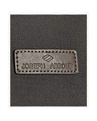 Joseph Abboud - Black Nylon Leather Trim Double Buckle Messenger Bag for Men - Lyst