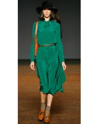 Marc By Marc Jacobs - Green Michaela Silk Dress - Lyst