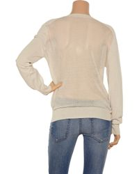 T By Alexander Wang - White Open-weave Back Cotton Sweater - Lyst