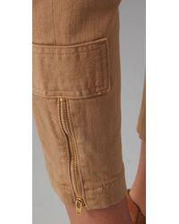 Vince | Natural Zip Zip Pants | Lyst