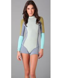Cynthia Rowley - Gray For Roxy Colorblock Wetsuit - Lyst
