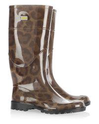 Dolce & Gabbana | Multicolor Leopard-print Pvc Wellington Boots | Lyst