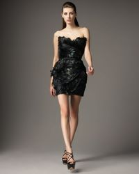 Mandalay | Black Allover Feather Dress | Lyst
