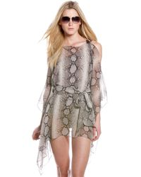 Michael Kors   Natural Python Print Belted Coverup   Lyst