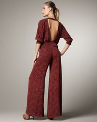 Alice + Olivia | Red Leiby Dotted Jumpsuit | Lyst