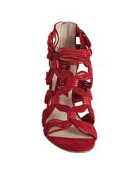 Boutique 9 | Red Strappy Suede Chichi Espadrilles | Lyst