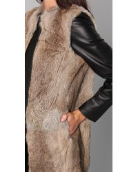 By Malene Birger - Black Alamina Fur Jacket - Lyst