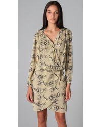 By Malene Birger | Natural Pazo Snake Print Wrap Dress | Lyst