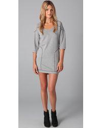 C&C California | Gray Loopy French Terry Sweatshirt Dress | Lyst