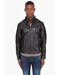G-Star RAW | Black Mfd Leather Jacket for Men | Lyst
