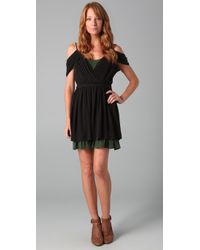 Joie | Black Leslie Savory Silk Dress | Lyst