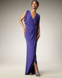 Nicole Miller - Blue Grecian Gown - Lyst