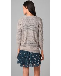 Rebecca Taylor | Gray Runway U-neck Sweater | Lyst