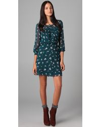Rebecca Taylor - Blue Ghost Flower Dress - Lyst