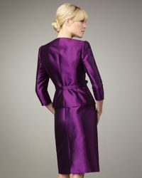 Tahari | Purple Ruffle-front Belted Suit | Lyst