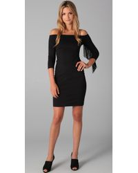 Thayer | Black Sizzle Off Shoulder Dress | Lyst