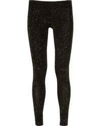 Vivienne Westwood Anglomania | Black Glitter Stretch-jersey Leggings | Lyst