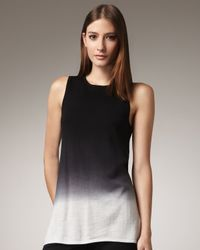 Adrienne Vittadini - Black Dip-dyed Shell - Lyst