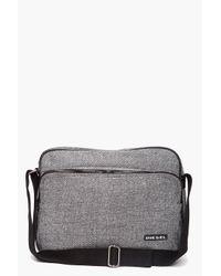 DIESEL | Black Herringbone Laptop Bag for Men | Lyst