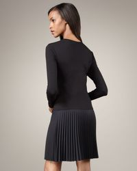DKNY | Black Pleated-skirt Dress | Lyst