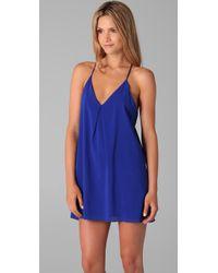 Alice + Olivia - Blue Fierra T Back Dress - Lyst