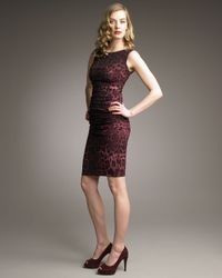 Dolce & Gabbana | Multicolor Leopard-print Ruched Dress | Lyst