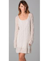 Free People | White Angel Mohair Sweater Dress | Lyst
