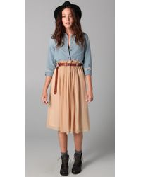 Madewell | Natural Orchard Skirt | Lyst