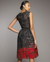 Oscar de la Renta - Gray Petal Dress - Lyst