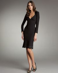 Zac Posen | Black Laser-cut Open-back Dress | Lyst