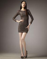 Alice + Olivia | Brown Naja Sequin Minidress | Lyst